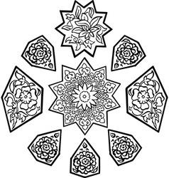 Paisley mehndi floral design vector image vector image
