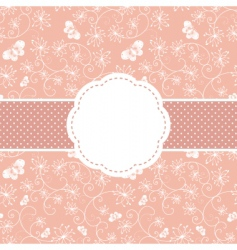 springtime greeting card vector image vector image