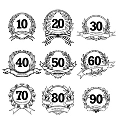 Anniversary Labels Set vector image vector image