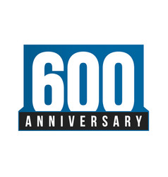 600th anniversary icon birthday logo vector