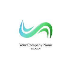 abstrat green logo vector image