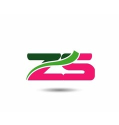 Alphabet Z and S letter logo vector image