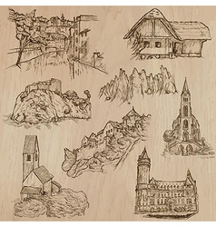 Architecture and places around the world vector