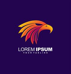 awesome eagle head logo design vector image
