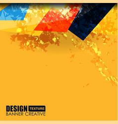Background yellow grunge texture vector