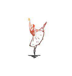 ballerina girl dance woman art concept hand vector image