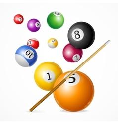 Billiard Ball Concept vector