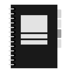 Black and grey notebook vector