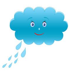 blue cloud vector image