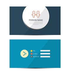 Blue Paper Business Card Template vector image