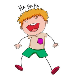 Boy laughing vector