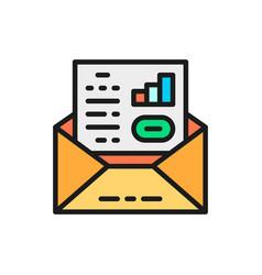 business communication letter envelope vector image