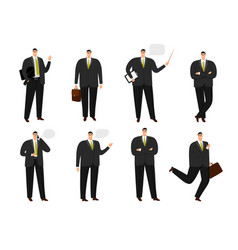 businessman character office working man vector image
