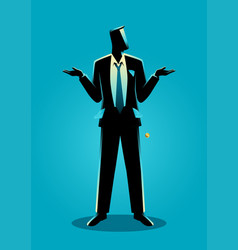 businessman with empty pockets turned outward vector image