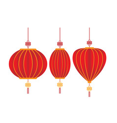 chinese decorative lantern isolated white vector image