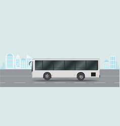 city bus on road passenger transport vector image