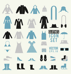 Clothing and shoes set vector
