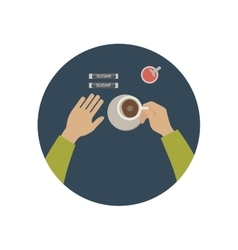 Coffee break icon vector