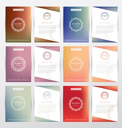 Colorful brochure document template vector image