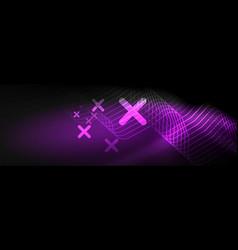 dark neon light glowing template abstract vector image
