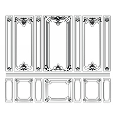 Decorative Damask Ornamented frames vector