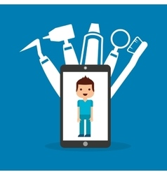 Dental healthcare online icon vector