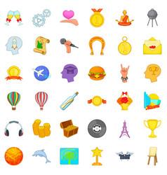 Desire icons set cartoon style vector