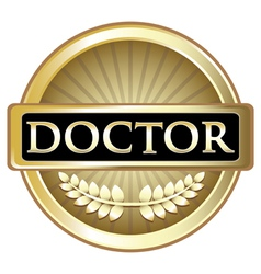 Doctor Gold Award vector image