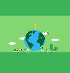 earth day of people celebration vector image