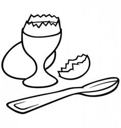 eggcup vector image