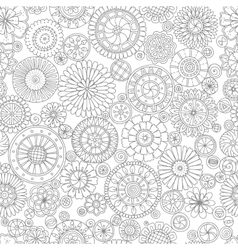 Ethnic floral mandalas doodle background circles vector