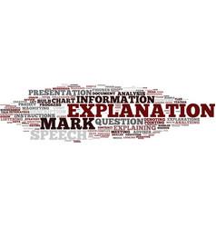 Explanation word cloud concept vector