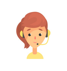 Female call center worker online technical vector