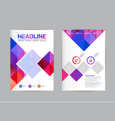 Flyer template design a4 polygon brochure vector