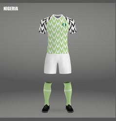Football kit of nigeria 2018 vector