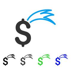 Fortune falling dollar flat icon vector