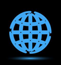Globe neon icon vector