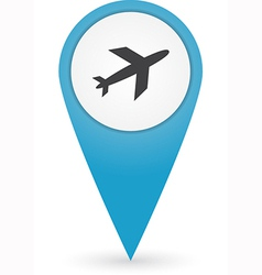 Gps marker with airport icon vector