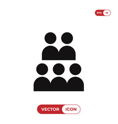 group icon isolated on white background modern vector image