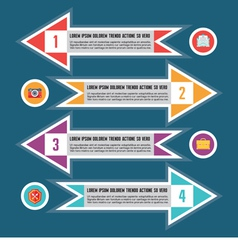 Infographic Concept for Presentation - Sche vector image