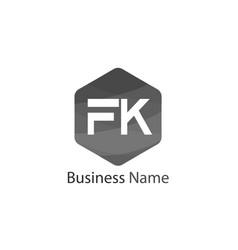 Initial letter fk logo template design vector