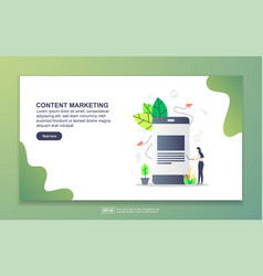 landing page template content marketing modern vector image