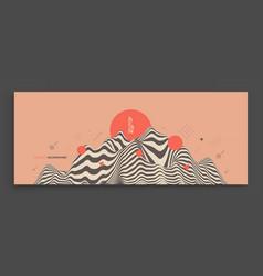 landscape background terrain asian vector image