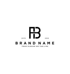 Letter ab logo design vector