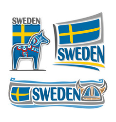 Logo for sweden vector