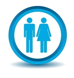 Man woman icon blue 3D vector