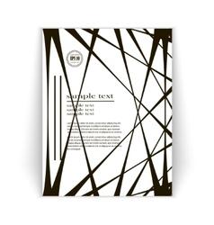 minimalist design brochures vector image