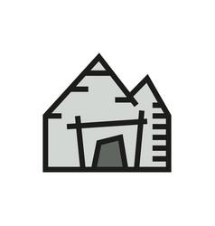 mining mine entrance icon on white background vector image