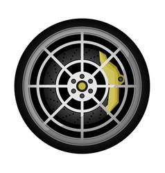 Modern car titanium rim icon vector
