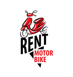 motorcycle logo for rent on vector image